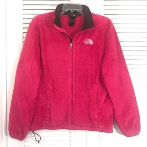 North Face - Pink Teddy Zip-Up Jacket!